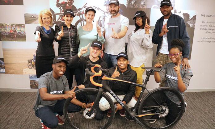 IMS Team celebrating landing the Trek SA account
