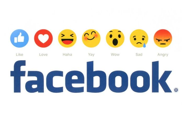 Facebook logo with reactions