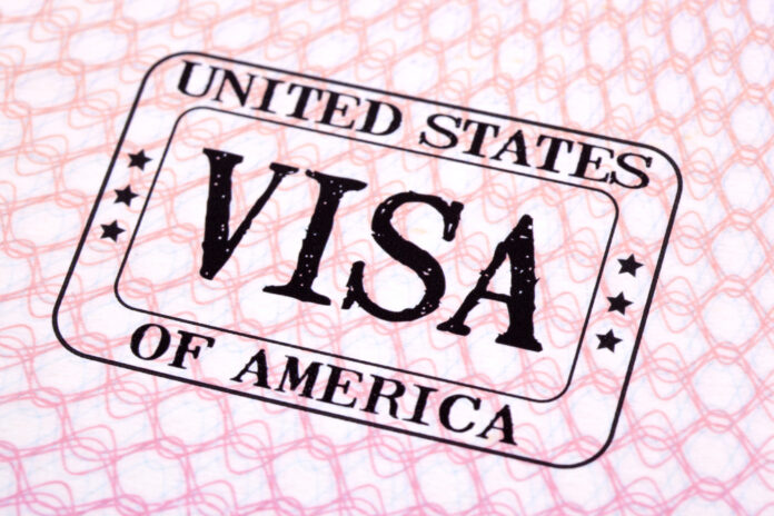 United States of America Visa stamp