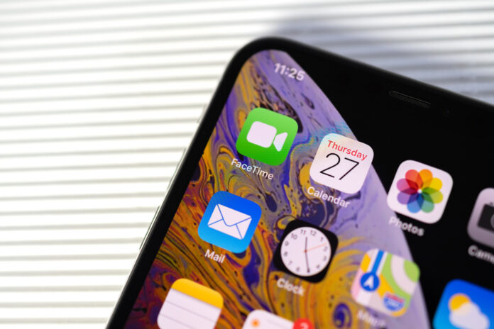 Apple iPhone app screen