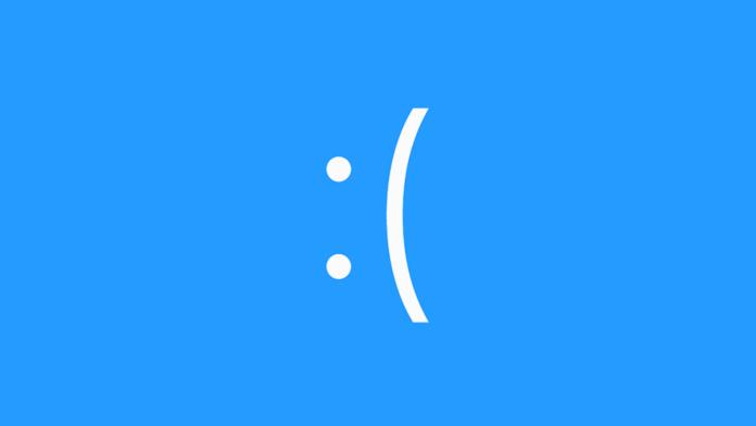 Windows 7 sad face