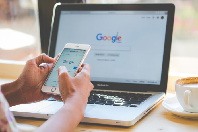 Google search on mobile and smartphone screen