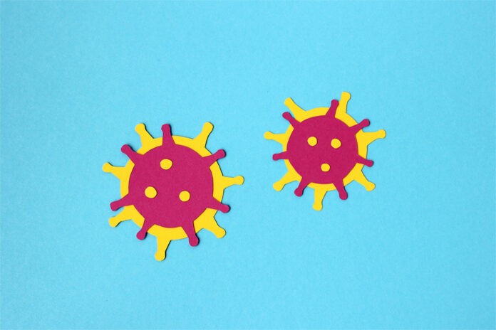 Animated image of flu particles