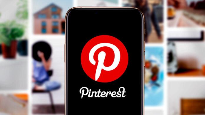 Smartphone with Pinterest logo